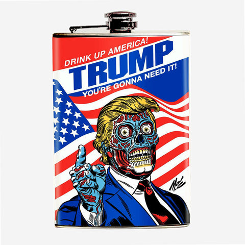 "Limited Edition ""Drink Up, America!"" Flask"