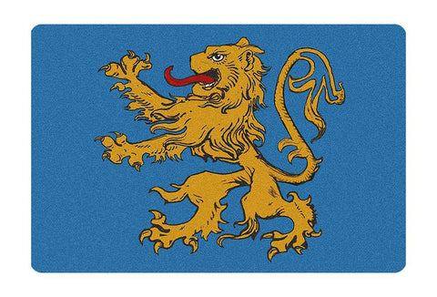 Domestic Platypus-Flag of Apt 4A Doormat - BBT Sheldon's Lion Rampant Flag TV Inspired -Doormat-[meta description]