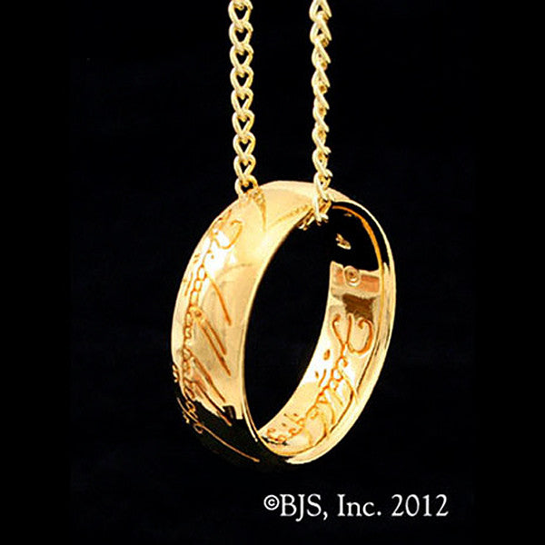Lord of the Rings Gollum Gold ONE RING Necklace - Domestic Platypus
