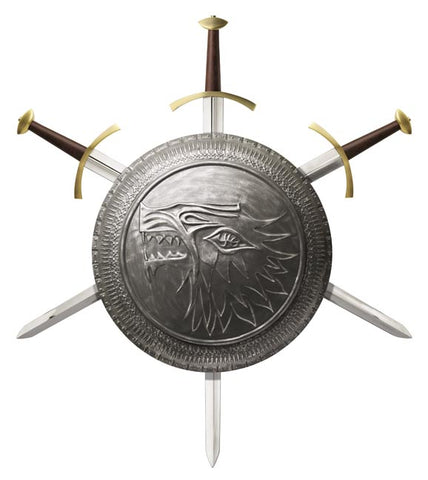 Game of Thrones Stark Infantry Shield / Sword Display
