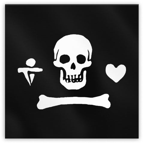 Gentleman Pirate Jolly Roger Magnet - Domestic Platypus