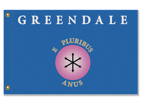 Domestic Platypus-Greendale CC Flag, Custom Cosplay Prop Replica Pole Banner Flag-Flag-[meta description]