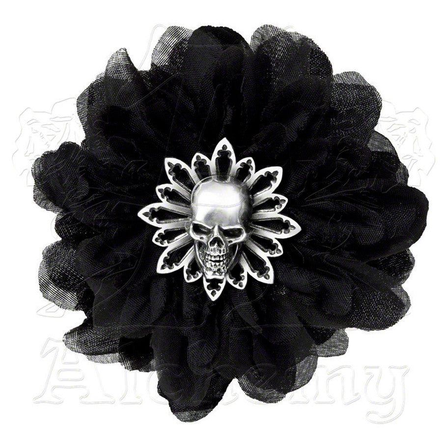 Alchemy Gothic BLACK DAHLIA Hair Clip - Domestic Platypus