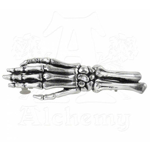 Alchemy Gothic GET A GRIP Skeleton Hand Barrette