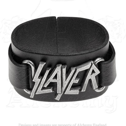Slayer Leather Wrist Strap Bracelet - Domestic Platypus