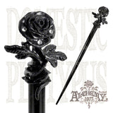 Alchemy Gothic BLACK ROSE of Passion Hair Stick - Domestic Platypus