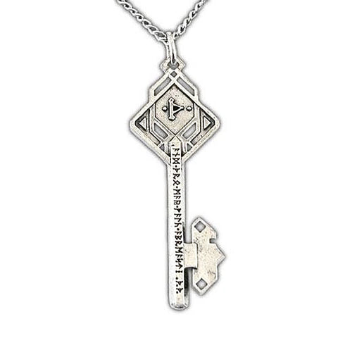 The Hobbit Key of Thror Necklace, Sterling Silver