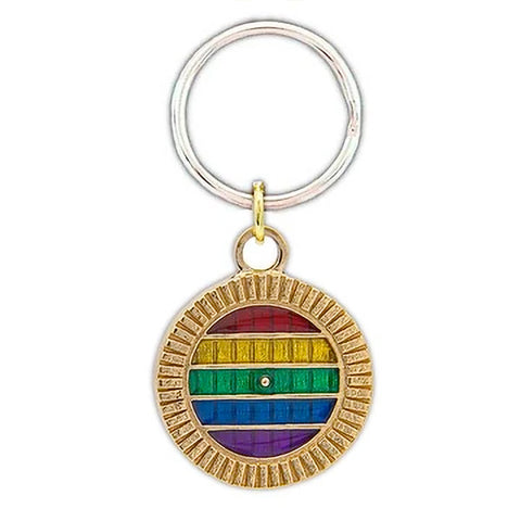 Lord of the Rings PRIDE Hobbiton Door Key Chain