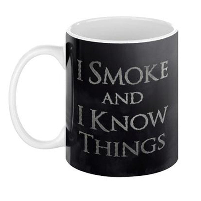 I Smoke and I Know Things Mug - Domestic Platypus