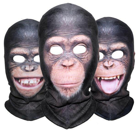 Domestic Platypus-Chimpanzee 3D Print Balaclava, Funny Weird Protective Chimp Face Mask-Balaclava-[meta description]