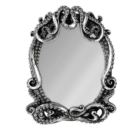 Domestic Platypus-Alchemy Gothic KRAKEN MIRROR, Silver Resin Tentacle Frame Glass Mirror-Mirror-[meta description]