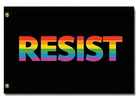Domestic Platypus-LGBTQ RESIST FLAG Anti-Trump Anti-Fascist Equality Protest Banner -Flag-[meta description]