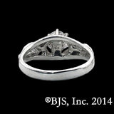 Lord of the Rings NENYA Ring with Tracer Band Sterling Silver