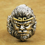 Monkey King Ring, Sterling Silver