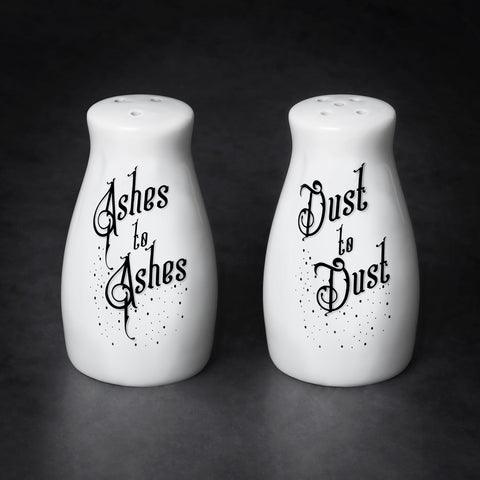 Domestic Platypus-Alchemy Gothic Ashes to Ashes, Dust to Dust Salt and Pepper Shaker Set-Shakers-[meta description]