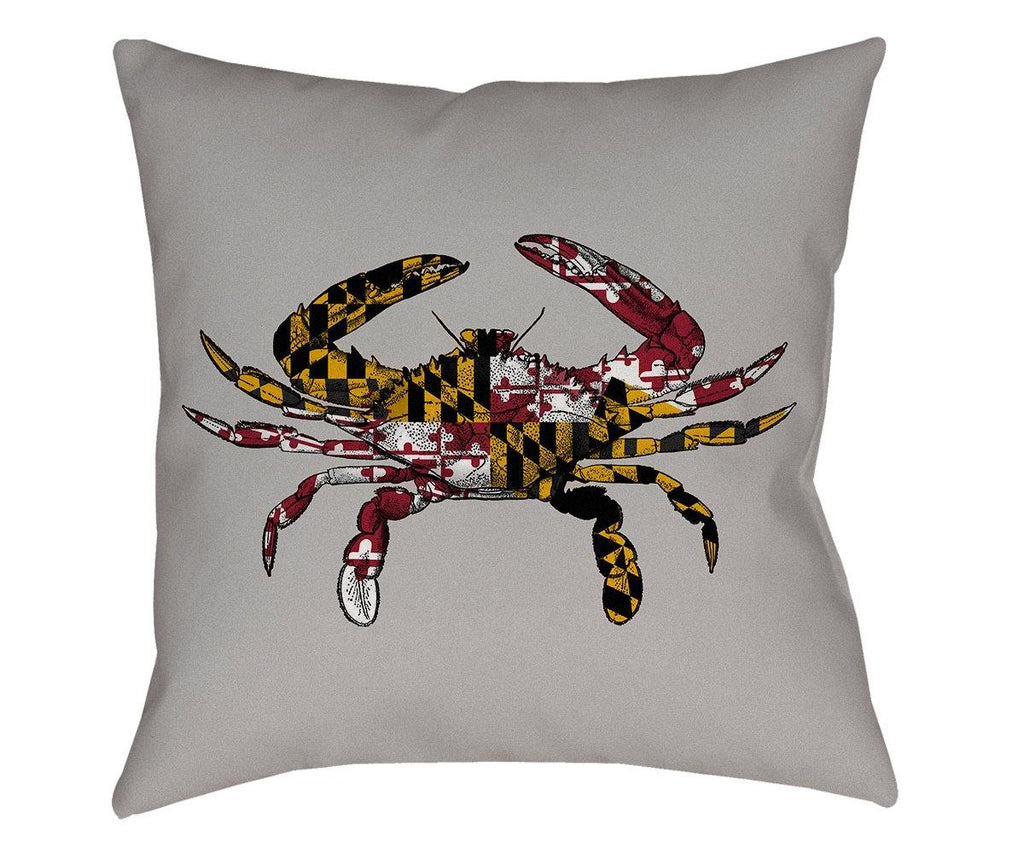 Maryland Crab Throw Pillow