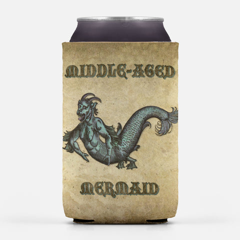 Middle-Aged Mermaid Can Cooler