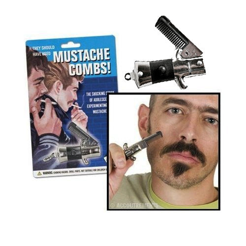 Switchblade Mustache Comb - Domestic Platypus