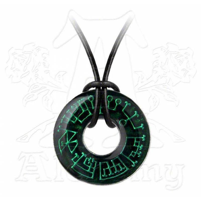 Alchemy Gothic ANGEL RUNE RING PENDANT - Domestic Platypus