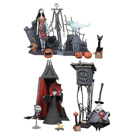 Nightmare Before Christmas Large Statue Set