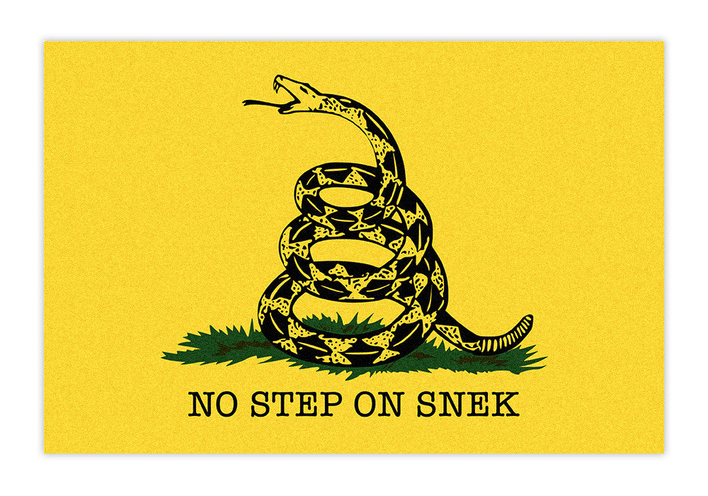 No Step On Snek Doormat / Floor Mat - Domestic Platypus