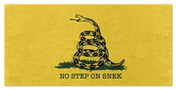 No Step On Snek Beach and Bath Towels