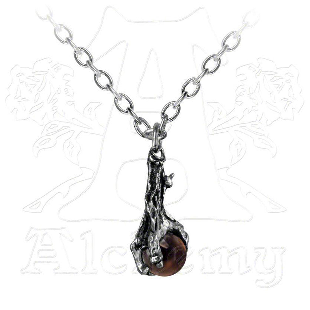 Alchemy DRAGON'S CLAW & Crystal Orb Pendant