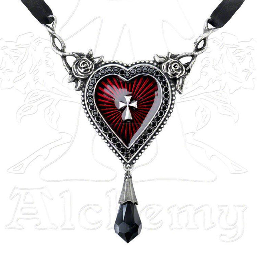 Alchemy Gothic Sacred Heart Pendant Necklace - Domestic Platypus