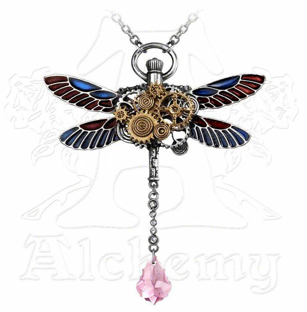 Alchemy Empire CLOCKWORK DARTER Dragonfly Pendant - Domestic Platypus