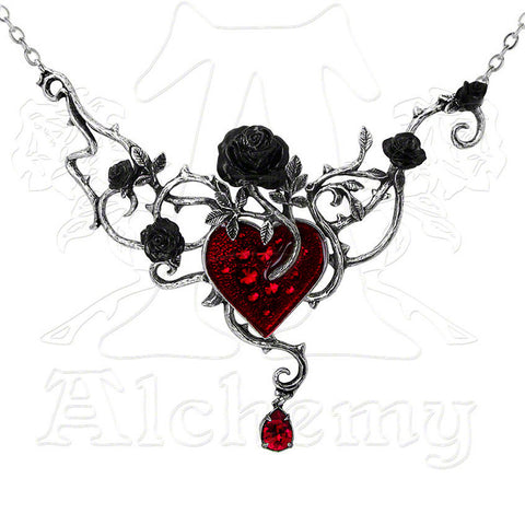 Alchemy Gothic BED OF BLOOD ROSES Necklace - Domestic Platypus