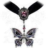 Alchemy Gothic DEATH'S HEAD BUTTERFLY Choker - Domestic Platypus