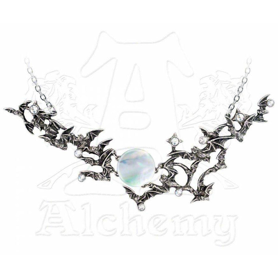 Alchemy Gothic EVENTIDE Twilight Moon Necklace - Domestic Platypus