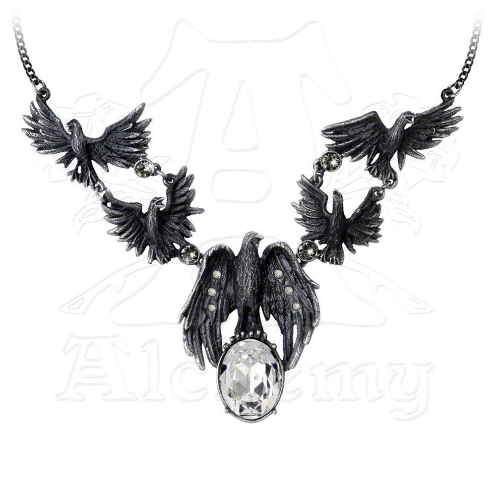 Alchemy Gothic MURDER OF CROWS Necklace