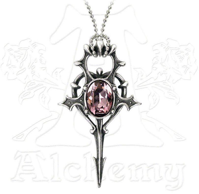 Alchemy Gothic HERZ LEBEN Heart Ankh Necklace - Domestic Platypus