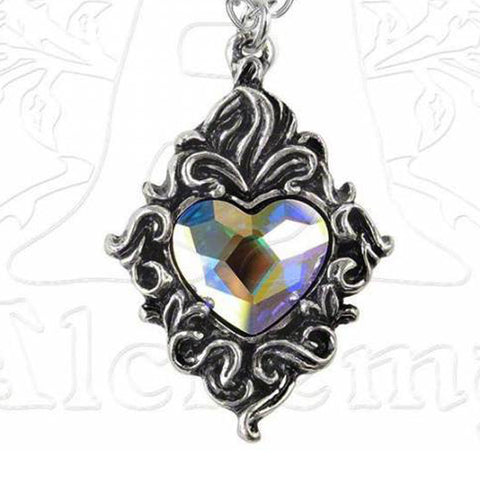 Alchemy Gothic Crystal Heart Pendant - Domestic Platypus