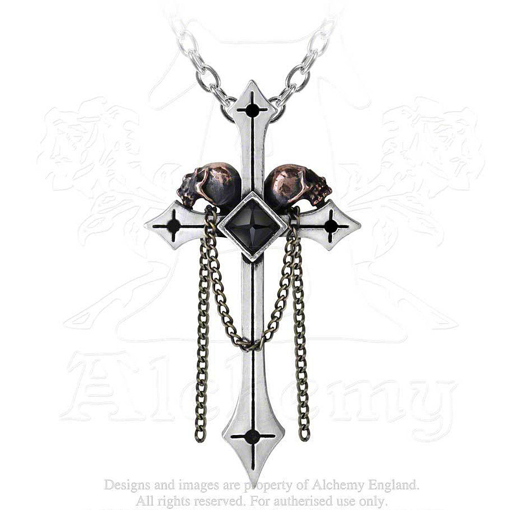 Alchemy Gothic GOLGOTHA Pendant Necklace