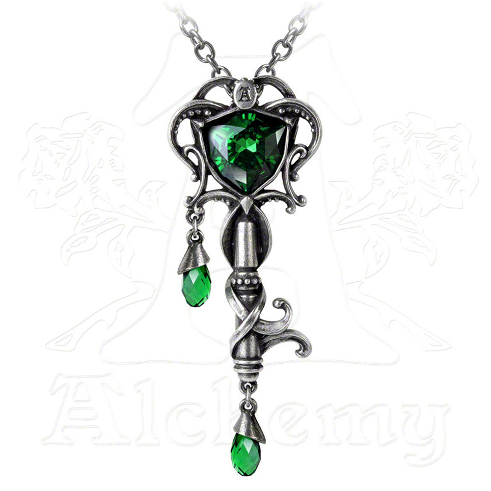 Alchemy Gothic KEY TO THE SECRET GARDEN Pendant Necklace - Domestic Platypus
