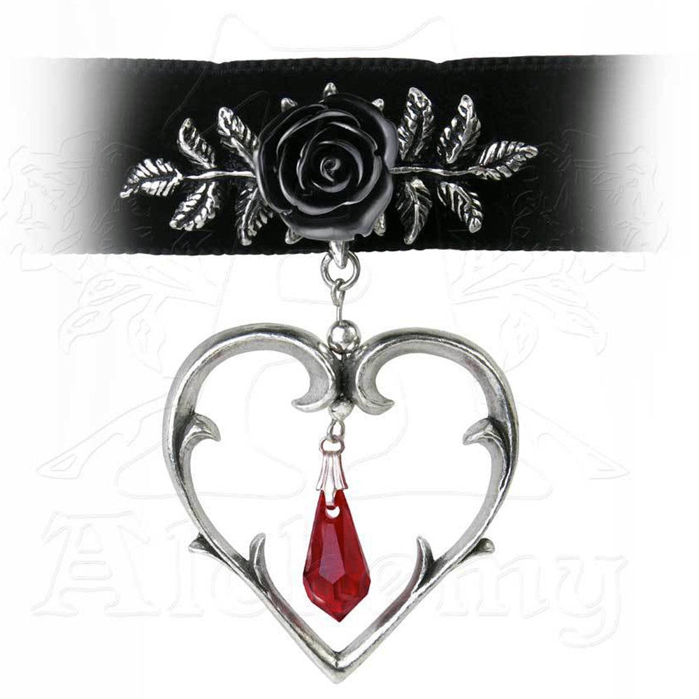 Alchemy Gothic WOUNDED LOVE Choker - Domestic Platypus