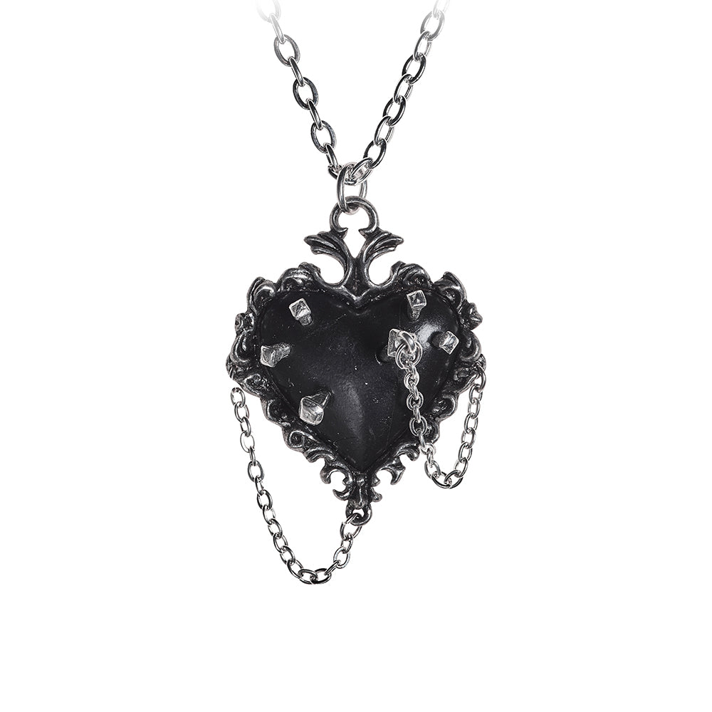 Witches Heart Pendant Neckace, Alchemy Gothic