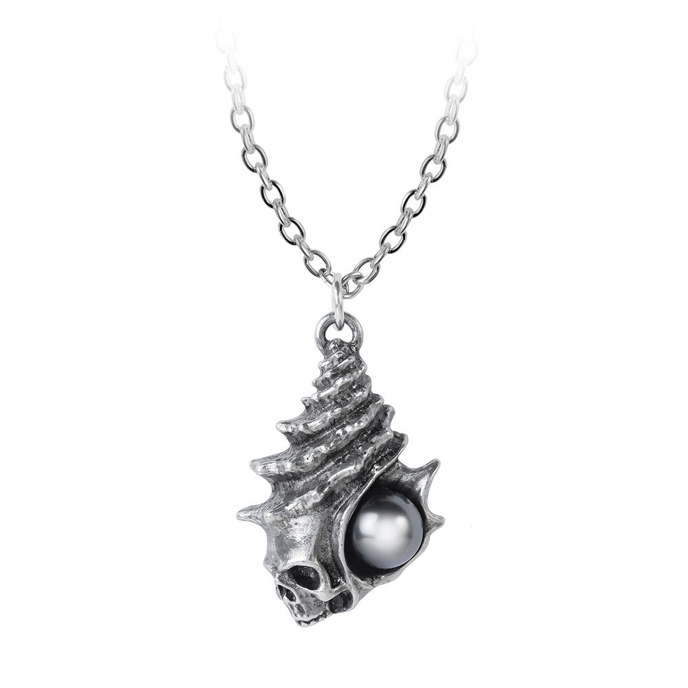 Black Pearl of Plage Noire Pendant Necklace, Alchemy Gothic