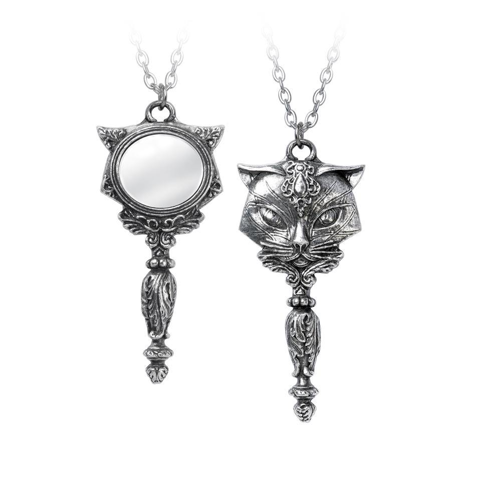 Sacred Cat Vanitas Necklace, Alchemy Gothic