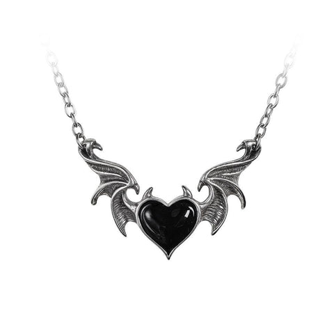 Domestic Platypus-Blacksoul Necklace, Alchemy Gothic - Black Soul Horned Heart Pendant-Necklace-[meta description]