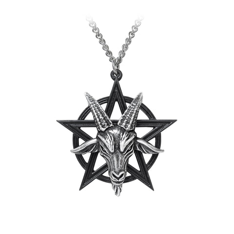 Baphomet Pentacle Necklace, Alchemy Gothic
