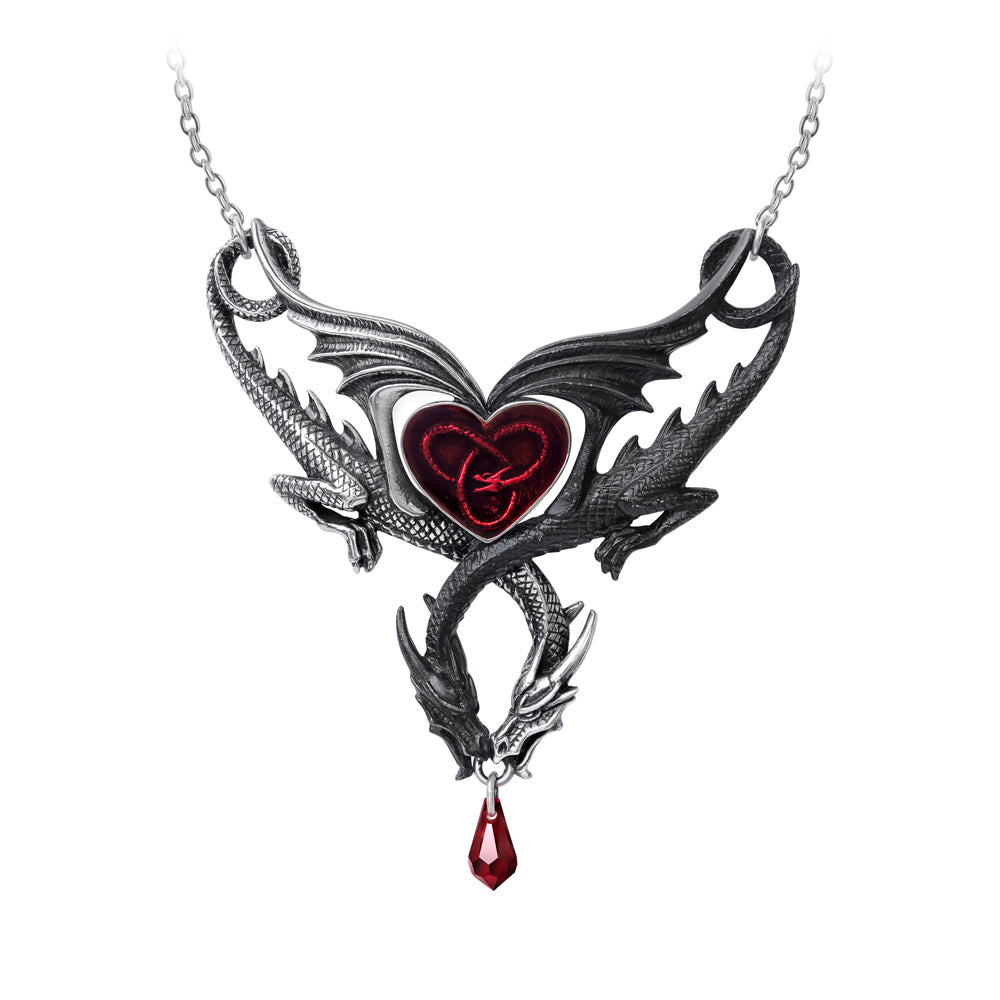 Confluence of Opposites Dragon Necklace, Alchemy Gothic