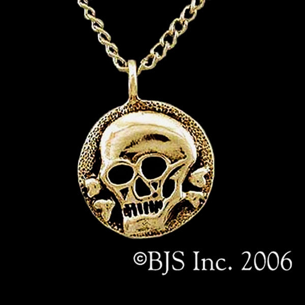 Pirate's Skull & Crossbones Medallion Necklace - Domestic Platypus