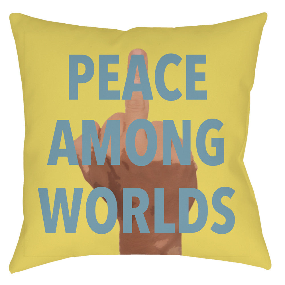 Peace Among Worlds Throw Pillow - Domestic Platypus