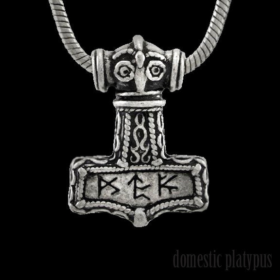 Alchemy of England BINDRUNE HAMMER Pendant Necklace - Domestic Platypus