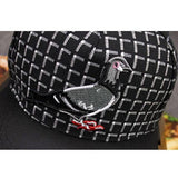 Pigeon on Plaid Snapback Cap
