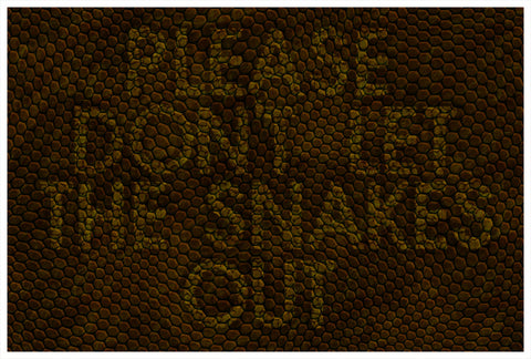 Please Don't Let The Snakes Out Doormat / Floor Mat - Domestic Platypus