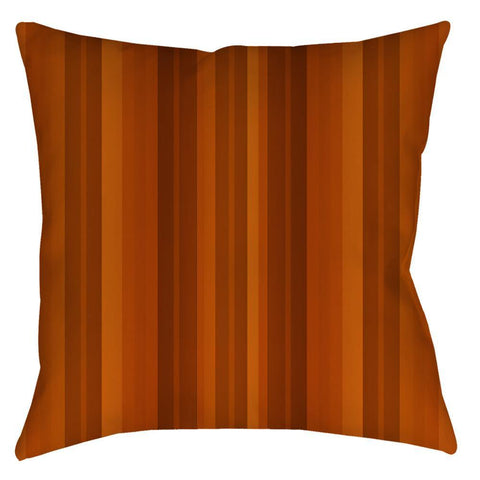 Pumpkin Spice Stripe Throw Pillow